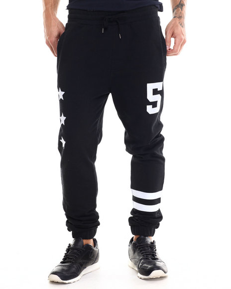 Buyers Picks - Men Black Athletica Terry Cloth Jogger Pants