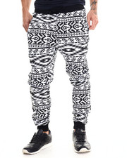 Buyers Picks - Blk/Wht Aztec Jogger Pant
