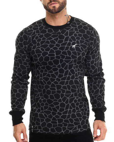 Lrg - Men Black Giraffe L/S Thermal