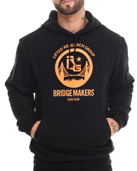 Lrg - Men Black Bridge Makers Pullover Hoodie