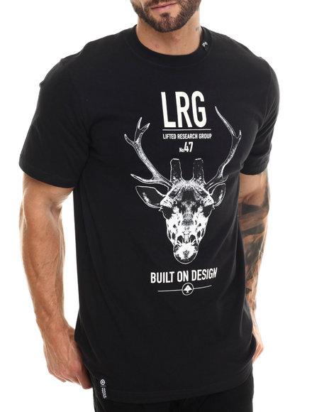 Lrg - Men Black Built On Design S/S Tee - $28.00