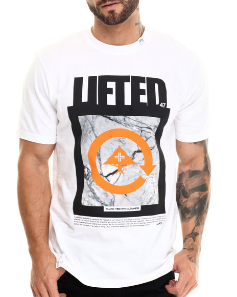 Lrg - Men White Killing Them With Cleanness S/S Tee - $28.00