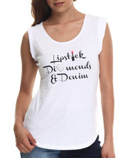 Baby Phat - Lipstick Diamond Denim Tee