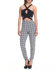 Jumpsuits - X-treme Top Print Bottom Jumpsuit