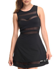Baby Phat - Sheer Inserts Skater Dress