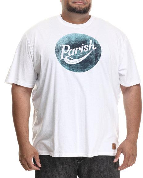Parish - Men White Patchwork Graphic T-Shirt (B&T)