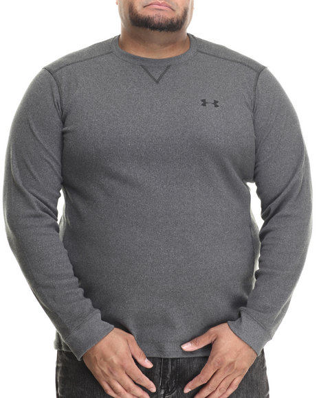 Under Armour Men Amplify L/S Thermal Shirt (Traps Warmth & Anti-Odor Charcoal 3X-Large