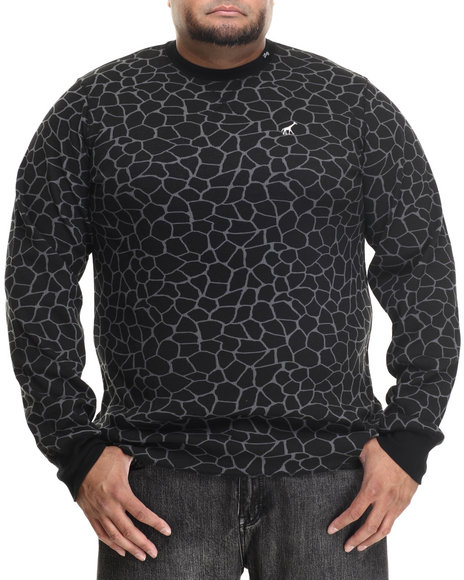 Lrg - Men Black Giraffe L/S Thermal (B&T)