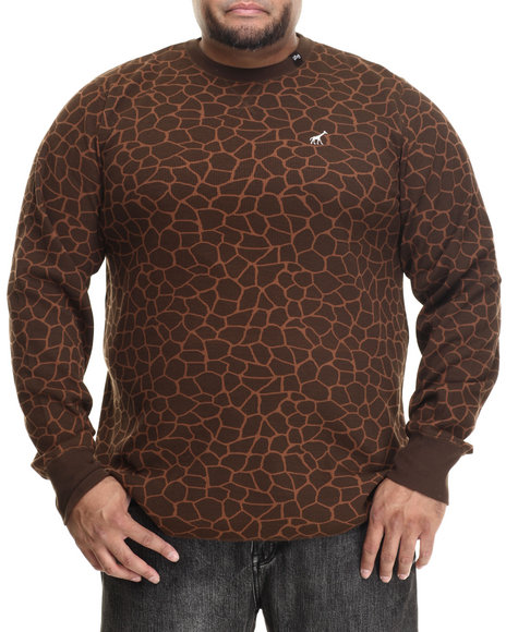 Lrg - Men Brown Giraffe L/S Thermal (B&T)