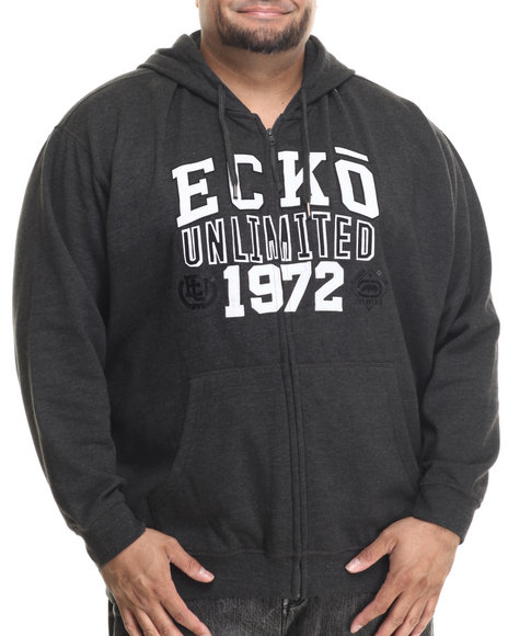 Ecko - Men Charcoal Ecko Divison Zip Hoodie (B&T)