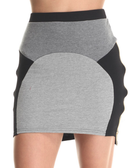Baby Phat - Women Black Colorblock Sporty Skirt