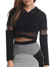 Baby Phat - Sporty Mesh Cropped Hoodie