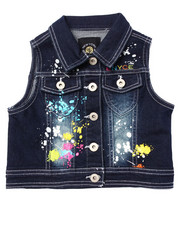 Vests - SPLATTER PAINT DENIM VEST (4-6X)