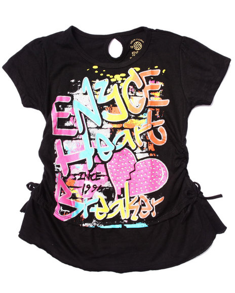 Enyce - Girls Black Heart Breakers Tee (7-16)