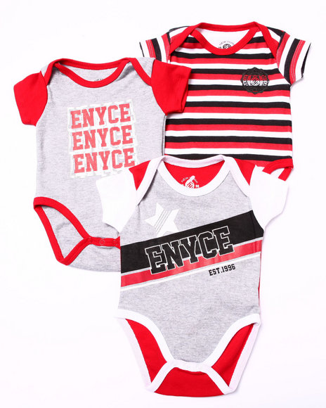 Enyce - Boys Red 3 Pc Creeper Set (Newborn)
