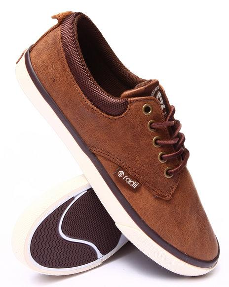 Radii Footwear - Men Brown The Jax Leather Sneakers
