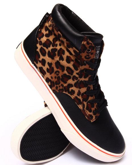 Radii Footwear - Men Animal Print,Black Basic Sneakers