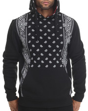 Buyers Picks - Bandana Print Pullover Fleece Hoody