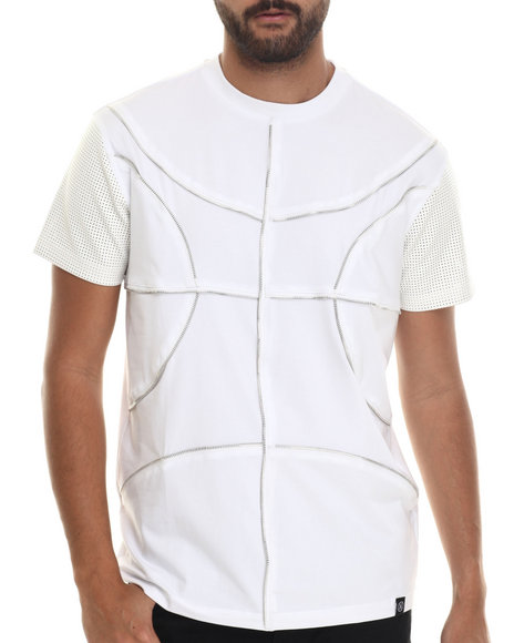 Hudson Nyc - Men White Full Court Breathable Knit W/ Inlaid Zippers