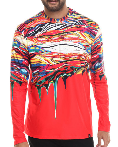 Hudson Nyc - Men Red The Persistence Of B I G L/S Knit Shirt