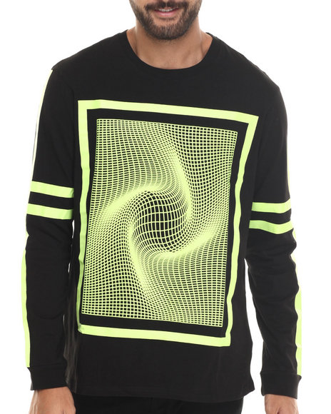Ur-ID 186779 Waimea - Men Yellow Framed Grid L/S Tee