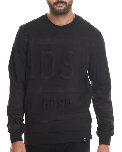 Ur-ID 186792 Hudson NYC - Men Black Fire Blades Crewneck Sweatshirt