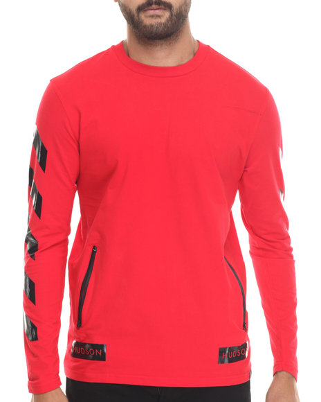 Hudson Nyc - Men Red Urban Hazard Breathable Jersey L/S Shirt