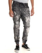 Jeans & Pants - Ripped Detail Jogger Denim Jeans