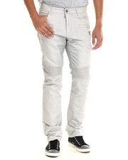 Men - Bullet Metallic Denim W/ Ribbed Panels