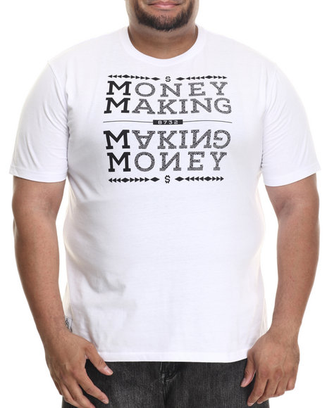 Ur-ID 186525 Eight 732 - Men White Money T-Shirt (B&T)