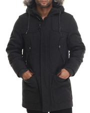 Sean John - Herringbone Wool Snorkel Jacket
