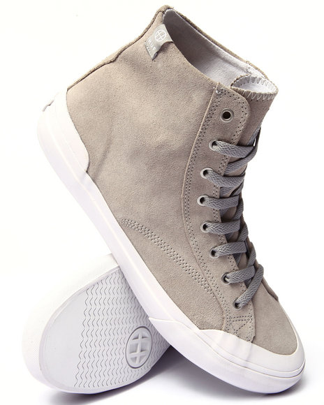 Huf - Men Grey Classic Hi Sneakers
