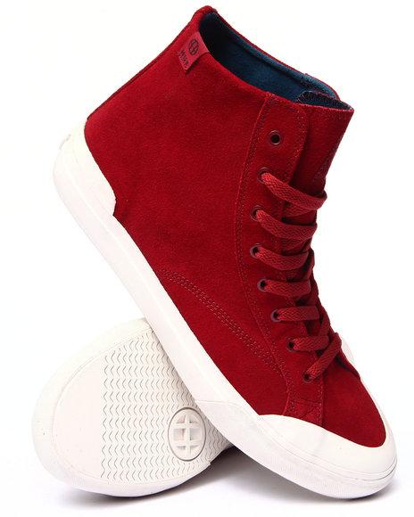 Huf - Men Maroon Classic Hi Sneakers