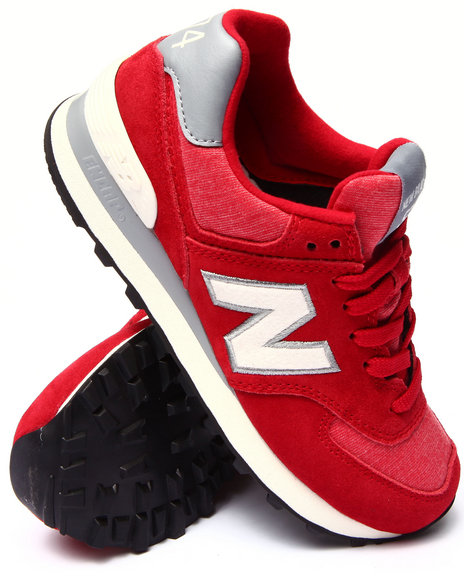 New Balance - Women Red 574 Pennant Sneakers