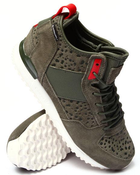 Adidas - Men Green Military Trail Runner Sneakers