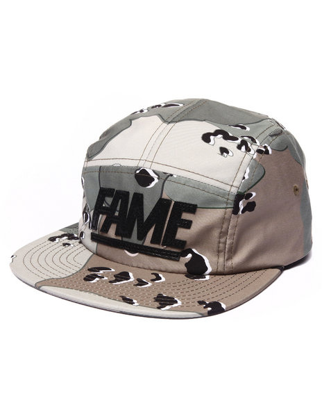 Hall Of Fame Men Block Camo Camper 5-Panel Cap Camo