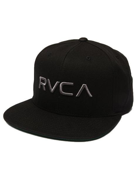 Rvca Men Rvca Twill 2 Snapback Cap Black