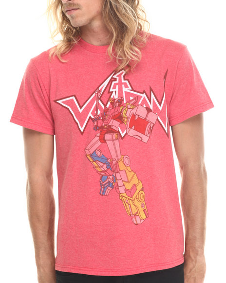 Graf-X Gallery - Men Red Voltron Short Sleeve T-Shirt