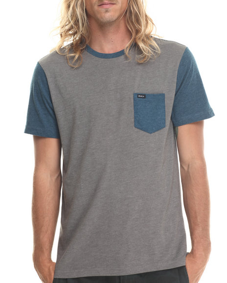 Rvca - Men Blue Change Up Pocket Tee