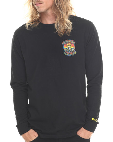 Rvca - Men Black Fletcher O G L/S Tee - $19.99