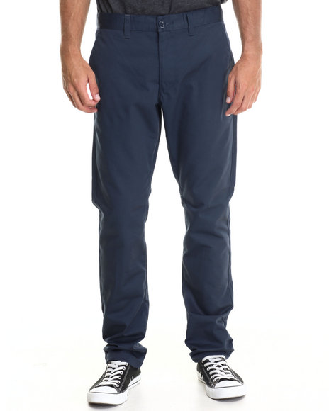 Rvca - Men Dark Blue Weekender Twill Chino Pants - $35.99