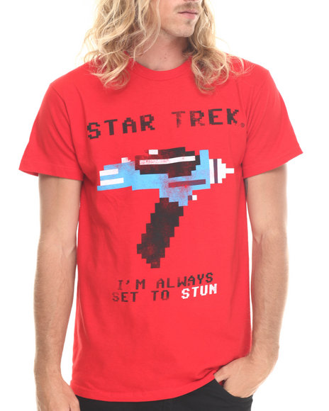 Graf-X Gallery - Men Red Star Trek Im Always Set S/S Tee