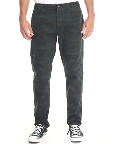 Rvca - Men Camo Charlie Broken Twill Fatigue Pants - $29.99
