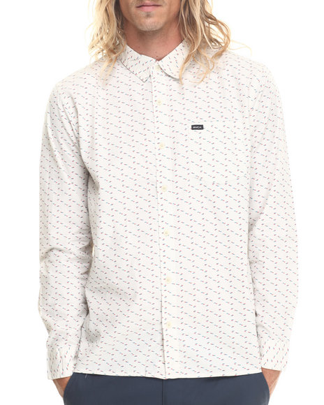 Rvca Cream Button-Downs