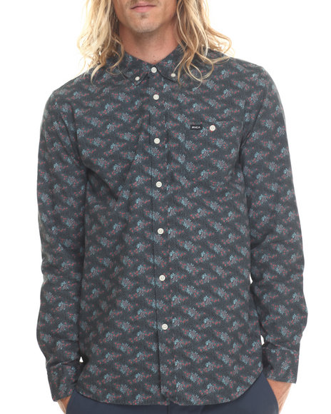 Rvca - Men Multi Fever Flower L/S Button-Down