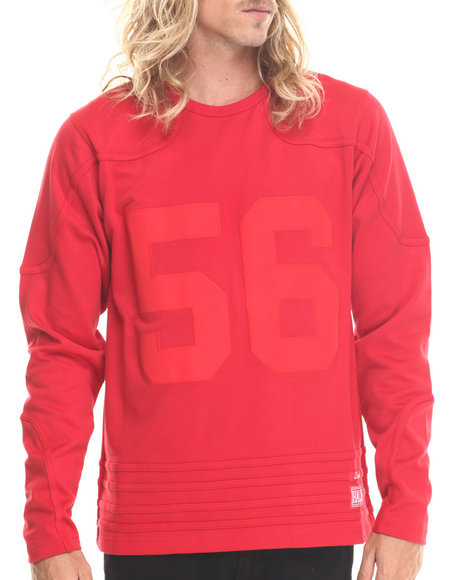 Hall Of Fame - Men Red Sports L/S Jersey