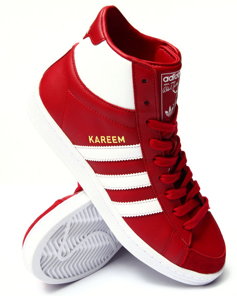 Adidas - Men Red Jabbar Hi Sneakers