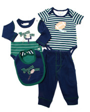 Sets - 4 PC FOOTBALL LAYETTE SET (NEWBORN)