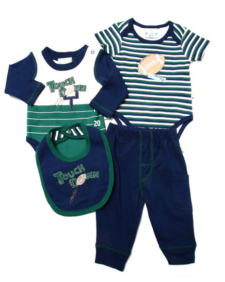 Duck Duck Goose - Boys Navy 4 Pc Football Layette Set (Newborn) - $16.00