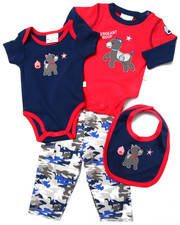 Sets - 4 PC SERGEANT LAYETTE SET (NEWBORN)